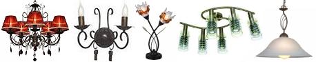 купить интерьерные светильники - бра, люстры, торшеры, подвесы, ночники, лампы настольные