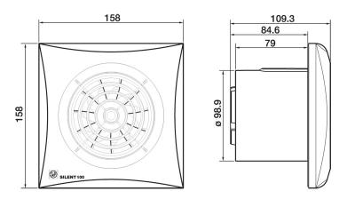 Вентилятор SILENT-100 СZ